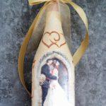 декупаж бутылки свадебного шампанского