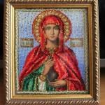 икона Святая Анастасия, вышита бисером