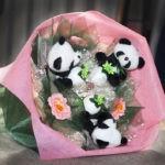 букеты из игрушек панды
