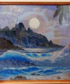 """""""На берегу моря"""" - алмазная вышивка"""