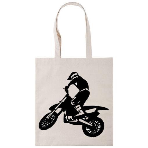 Сумка шоппер с мотоциклистом
