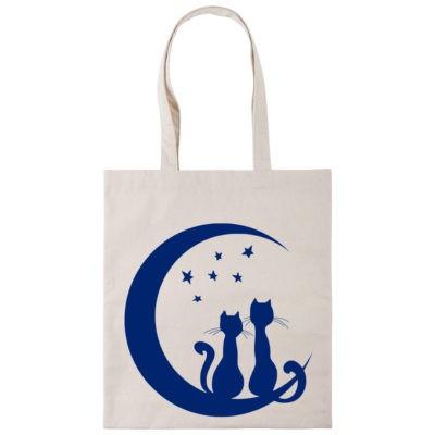 Сумка шоппер влюбленные коты
